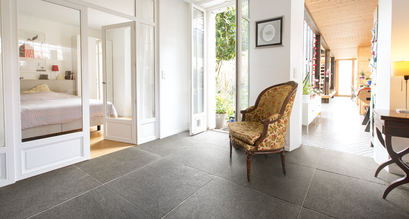 Natural stone floors for winter